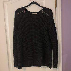 Michael Kors knit sweater dark grey